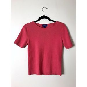 Charter Club Red Coral Crewneck Ribbed Sweater